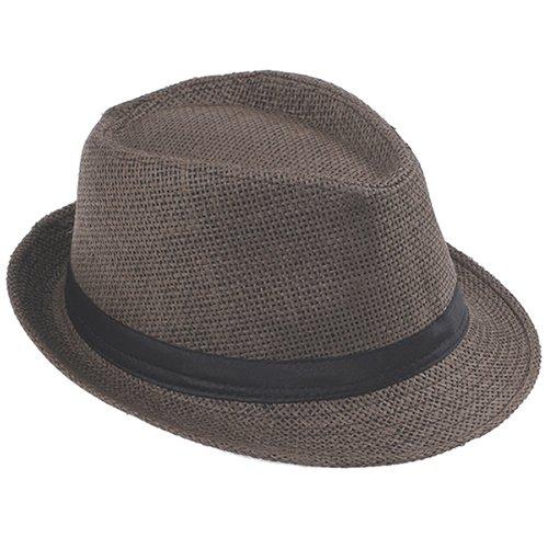 Fashion Summer Straw Men's Sun Hats Fedora Trilby Gangster Cap Summer Beach Cap Panama Hat Sombrero Travel Sunhat 15 18