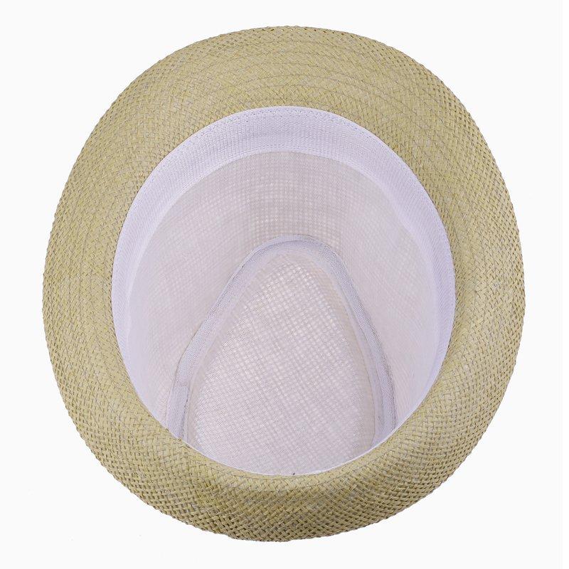 Summer Straw Mens Sun Hats Trilby Gangster Cap Summer Beach Cap Panama Hat Sombrero Travel Sunhat