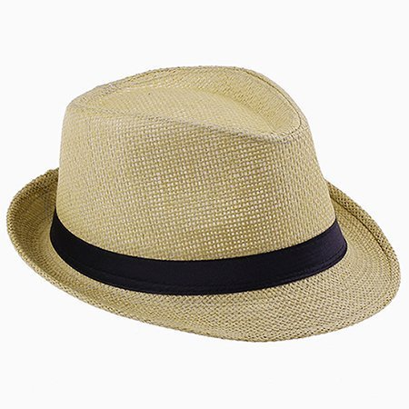 Fashion Summer Straw Men's Sun Hats Fedora Trilby Gangster Cap Summer Beach Cap Panama Hat Sombrero Travel Sunhat 15 20