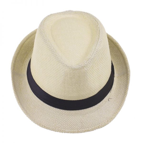 Fashion Summer Straw Men's Sun Hats Fedora Trilby Gangster Cap Summer Beach Cap Panama Hat Sombrero Travel Sunhat 15 10
