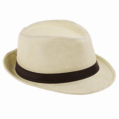 Fashion Summer Straw Men's Sun Hats Fedora Trilby Gangster Cap Summer Beach Cap Panama Hat Sombrero Travel Sunhat 15 22