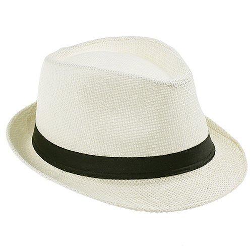 Fashion Summer Straw Men's Sun Hats Fedora Trilby Gangster Cap Summer Beach Cap Panama Hat Sombrero Travel Sunhat 15 24