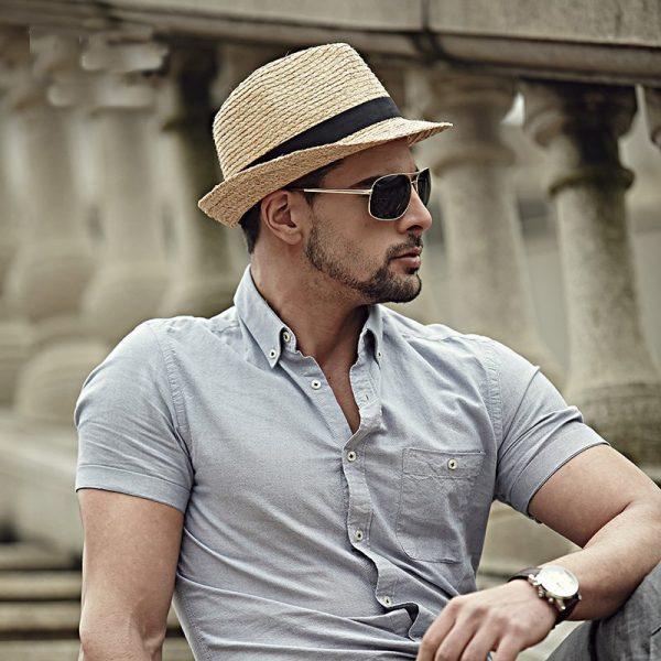 Fashion Summer Straw Men's Sun Hats Fedora Trilby Gangster Cap Summer Beach Cap Panama Hat Sombrero Travel Sunhat 15 2