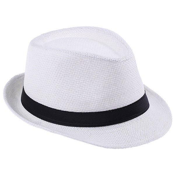 Fashion Summer Straw Men's Sun Hats Fedora Trilby Gangster Cap Summer Beach Cap Panama Hat Sombrero Travel Sunhat 15 14
