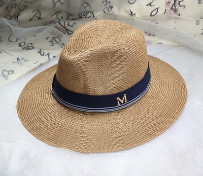 New Maison Michel Straw Hats Wide Brim M Letter Summer Hat Women Chapeu Jazz Trilby Bowler Summer Hats For Women 18