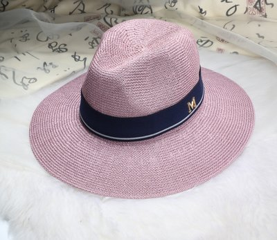 New Maison Michel Straw Hats Wide Brim M Letter Summer Hat Women Chapeu Jazz Trilby Bowler Summer Hats For Women 20