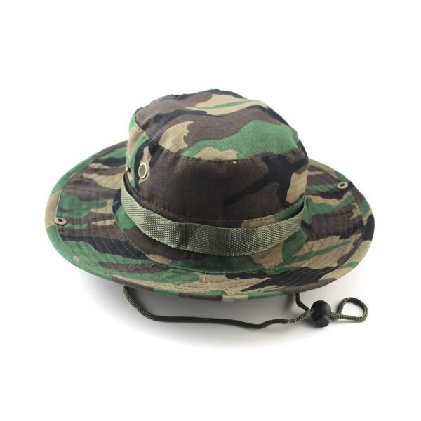 Summer Camo Fisherman Casual Bucket Camping Hiking Travel fishing mountaineering sombrero sunshade Bonnie hat For women men 4