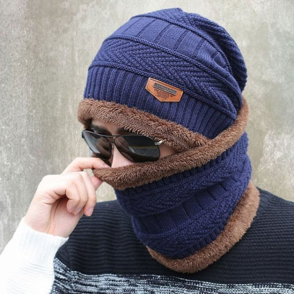 new knitted hat fashion Beanies Knit Men's Winter Hat Caps Skullies Bonnet For Men Women Beanie Casual Warm Baggy Bouncy 16