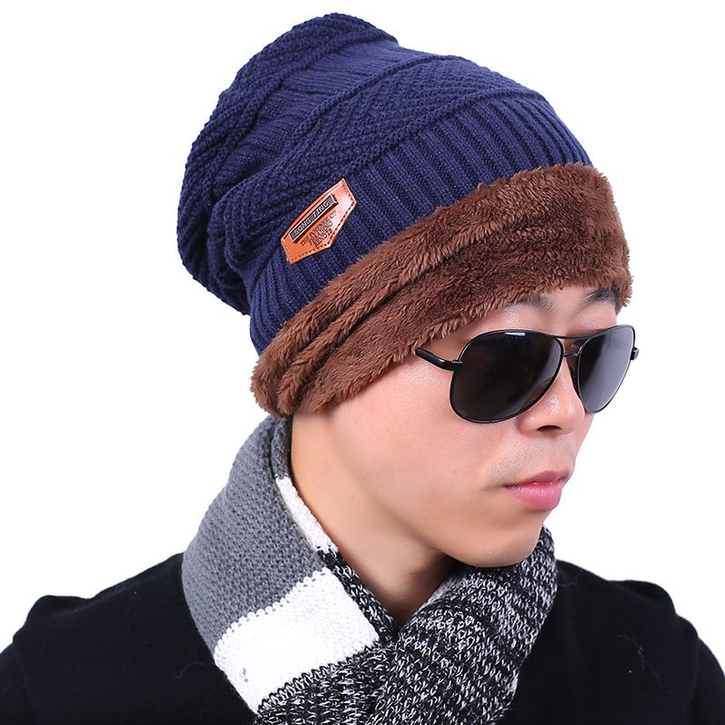new knitted hat fashion Beanies Knit Men's Winter Hat Caps Skullies Bonnet  For Men Women Beanie Casual Warm Baggy Bouncy 5