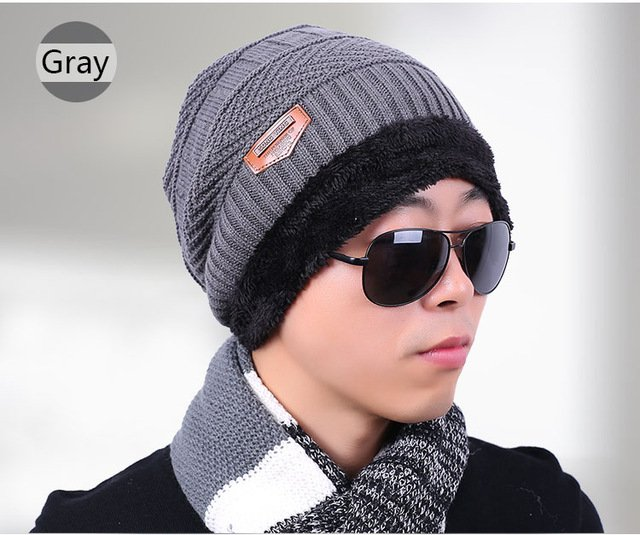 new knitted hat fashion Beanies Knit Men's Winter Hat Caps Skullies Bonnet  For Men Women Beanie Casual Warm Baggy Bouncy 17
