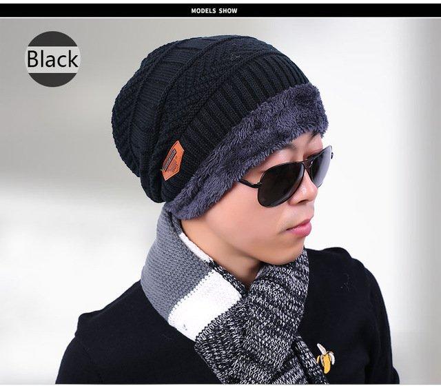 new knitted hat fashion Beanies Knit Men's Winter Hat Caps Skullies Bonnet  For Men Women Beanie Casual Warm Baggy Bouncy 21