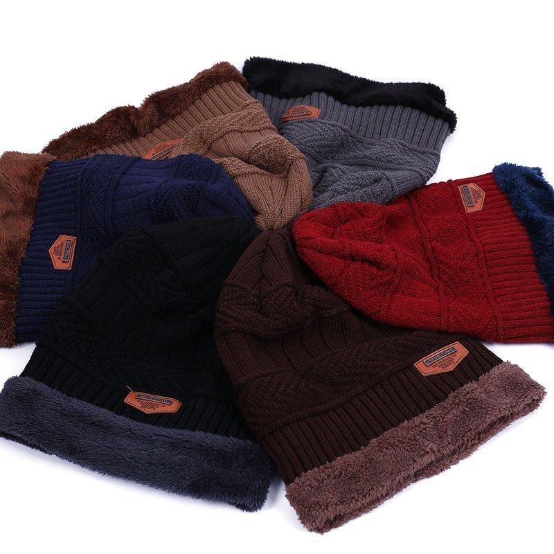 new knitted hat fashion Beanies Knit Men's Winter Hat Caps Skullies Bonnet  For Men Women Beanie Casual Warm Baggy Bouncy 11