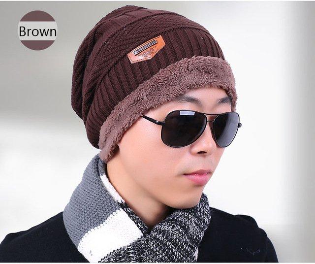 new knitted hat fashion Beanies Knit Men's Winter Hat Caps Skullies Bonnet  For Men Women Beanie Casual Warm Baggy Bouncy 25