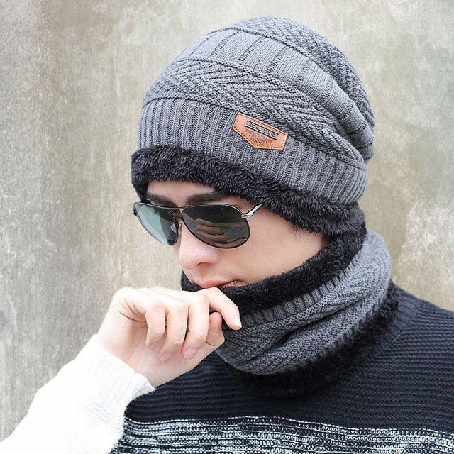 new knitted hat fashion Beanies Knit Men's Winter Hat Caps Skullies Bonnet  For Men Women Beanie Casual Warm Baggy Bouncy 13
