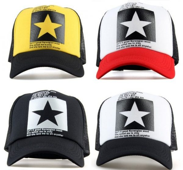 New Five-pointed Big Star Pattern Mesh Baseball cap 4