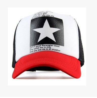 New Five-pointed Big Star Pattern Mesh Baseball cap 14