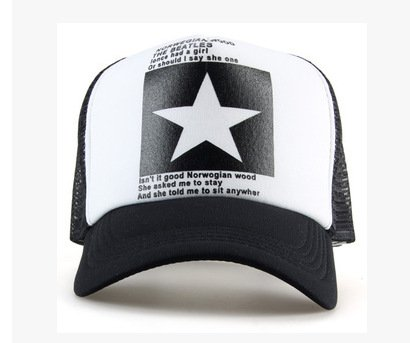 New Five-pointed Big Star Pattern Mesh Baseball cap 6