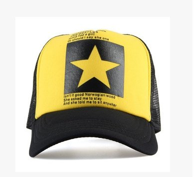 New Five-pointed Big Star Pattern Mesh Baseball cap 16