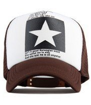 New Five-pointed Big Star Pattern Mesh Baseball cap 18