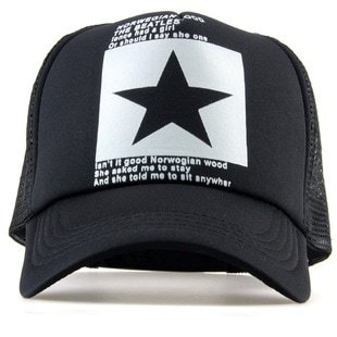 New Five-pointed Big Star Pattern Mesh Baseball cap 22