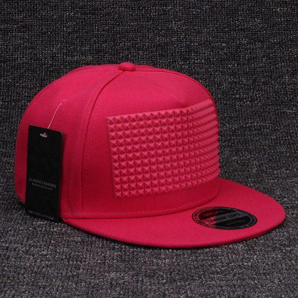 3D snapback cap raised soft silicon square pyramid flat baseball cap 3