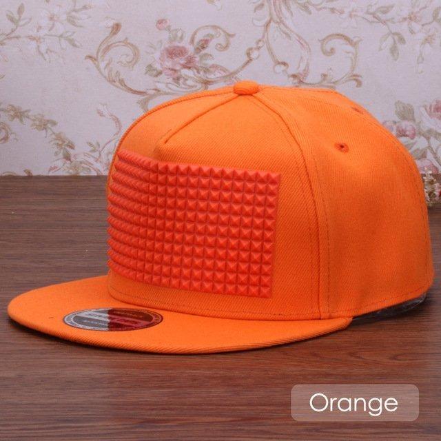 3D snapback cap raised soft silicon square pyramid flat baseball cap 17