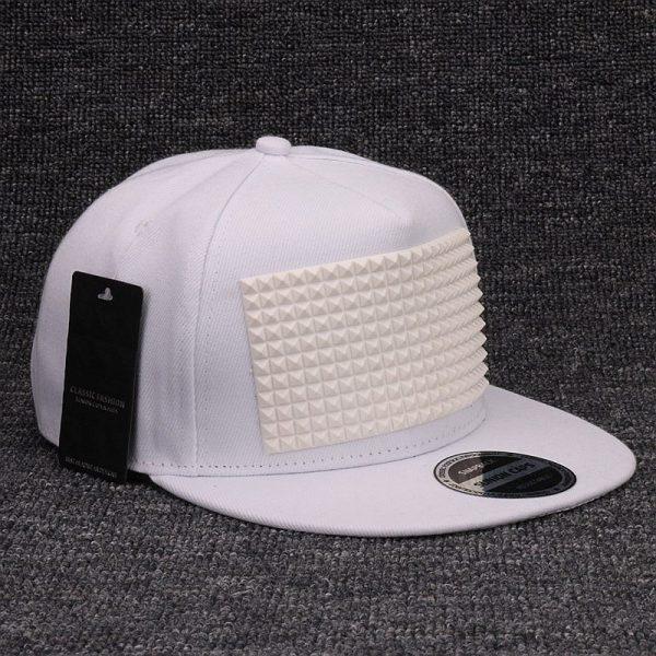 3D snapback cap raised soft silicon square pyramid flat baseball cap 4