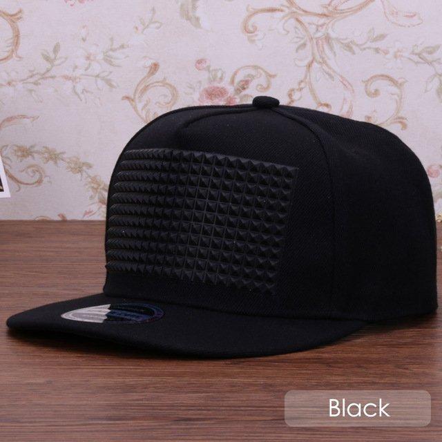 3D snapback cap raised soft silicon square pyramid flat baseball cap 19