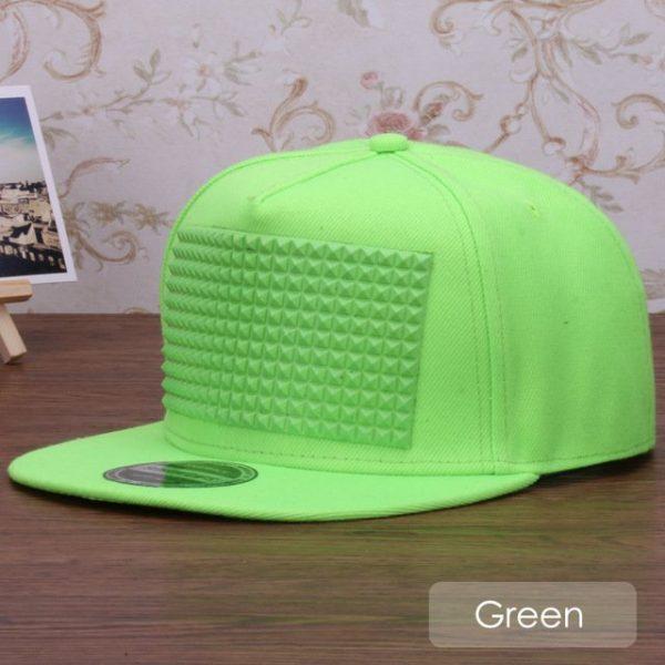 3D snapback cap raised soft silicon square pyramid flat baseball cap 11