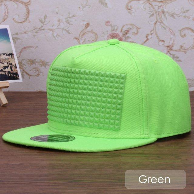 3D snapback cap raised soft silicon square pyramid flat baseball cap 21