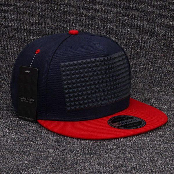 3D snapback cap raised soft silicon square pyramid flat baseball cap 6