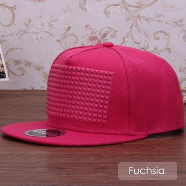 3D snapback cap raised soft silicon square pyramid flat baseball cap 12