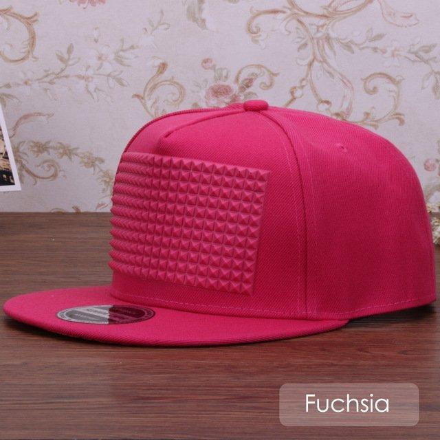 3D snapback cap raised soft silicon square pyramid flat baseball cap 23