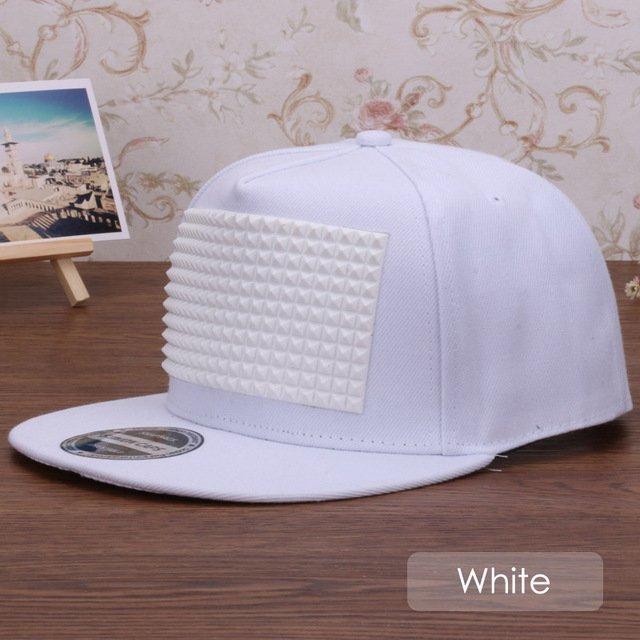 3D snapback cap raised soft silicon square pyramid flat baseball cap 25