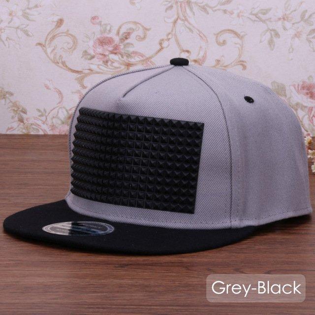 3D snapback cap raised soft silicon square pyramid flat baseball cap 13