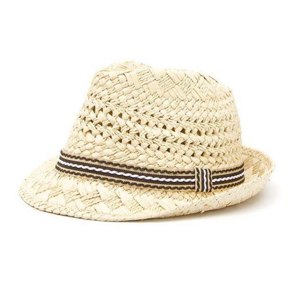 Fashion Handwork Women Summer straw Sun hat Boho Beach Fedora hat Sunhat Trilby Men Panama Hat Gangster Cap Good Pack 25 16