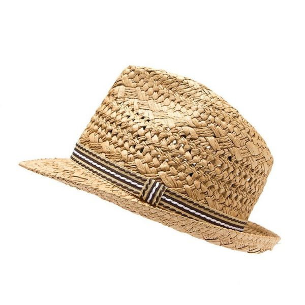 Fashion Handwork Women Summer straw Sun hat Boho Beach Fedora hat Sunhat Trilby Men Panama Hat Gangster Cap Good Pack 25 8