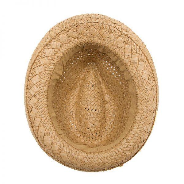 Fashion Handwork Women Summer straw Sun hat Boho Beach Fedora hat Sunhat Trilby Men Panama Hat Gangster Cap Good Pack 25 10