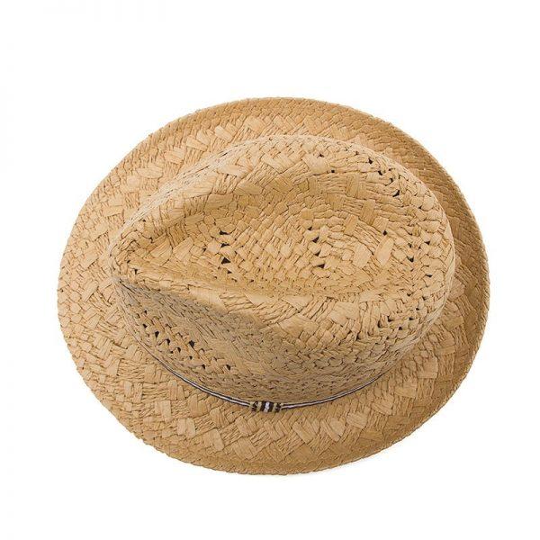 Fashion Handwork Women Summer straw Sun hat Boho Beach Fedora hat Sunhat Trilby Men Panama Hat Gangster Cap Good Pack 25 12