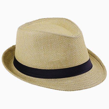 Fashion Handwork Women Summer straw Sun hat Boho Beach Fedora hat Sunhat Trilby Men Panama Hat Gangster Cap Good Pack 25 24