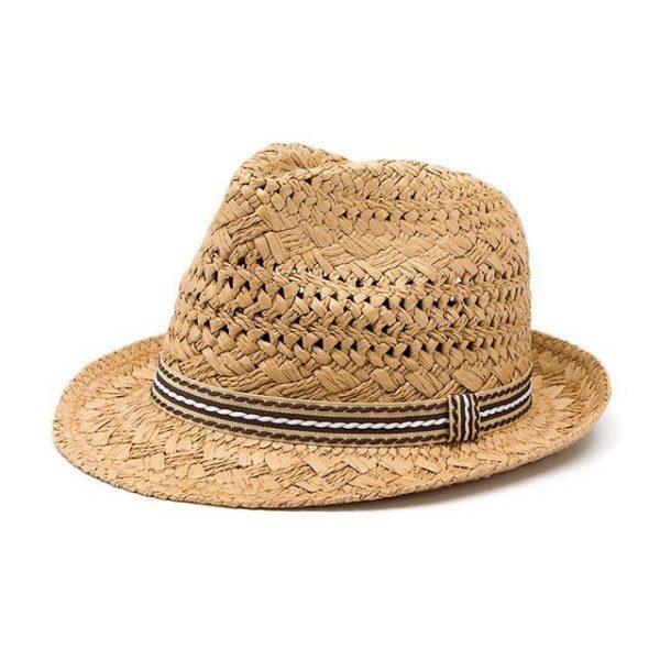 Fashion Handwork Women Summer straw Sun hat Boho Beach Fedora hat Sunhat Trilby Men Panama Hat Gangster Cap Good Pack 25 14