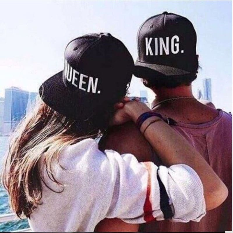 Fashion KING QUEEN Hip Hop Baseball Caps Embroider Letter Couples Lovers Adjustable Snapback Sun Hats for Men Women KH981562 3