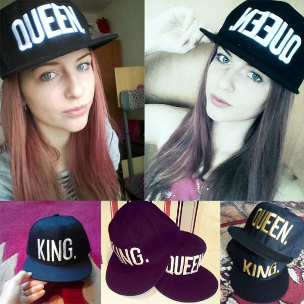 Fashion KING QUEEN Hip Hop Baseball Caps Embroider Letter Couples Lovers Adjustable Snapback Sun Hats for Men Women KH981562 4