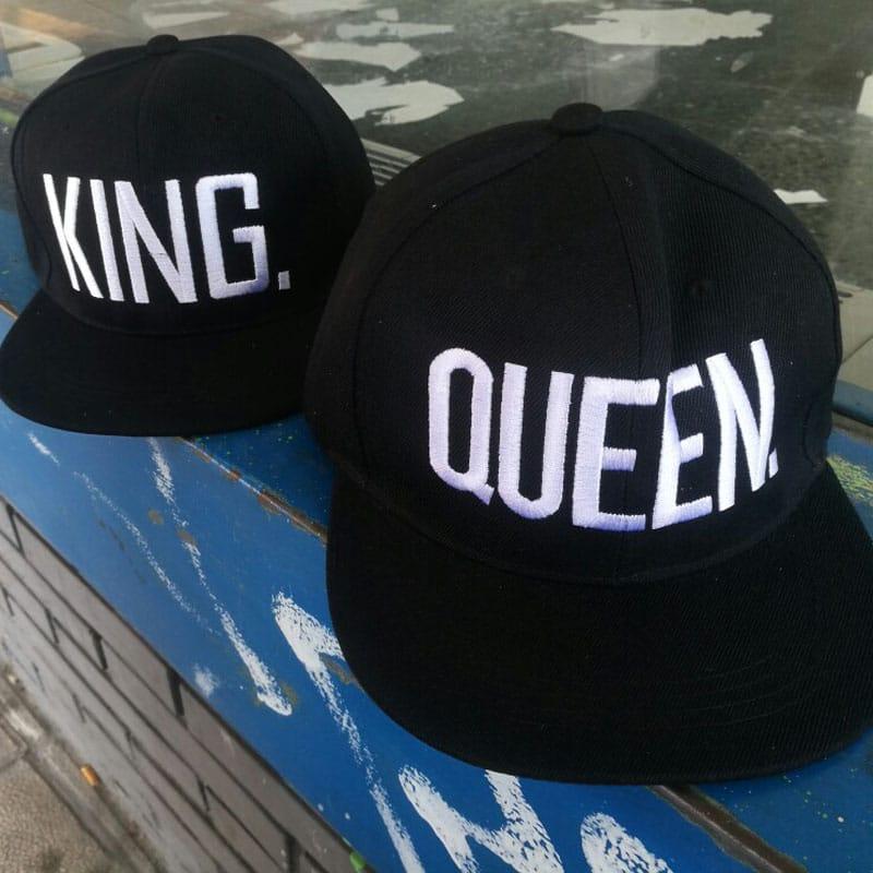 Fashion KING QUEEN Hip Hop Baseball Caps Embroider Letter Couples Lovers Adjustable Snapback Sun Hats for Men Women KH981562 7