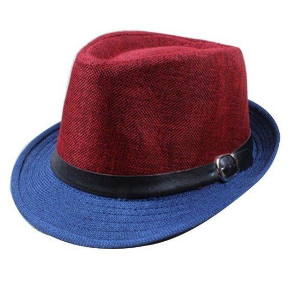 Hot Unisex Hat Women Hat Men Gangster Summer Beach Cap Hard Felt Fedora Trilby Panama Jazz Gangster Hats 32