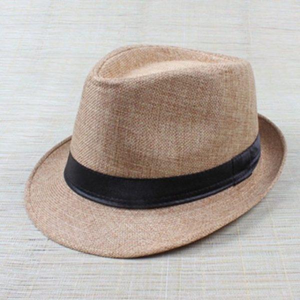 Hot Unisex Hat Women Hat Men Gangster Summer Beach Cap Hard Felt Fedora Trilby Panama Jazz Gangster Hats 16