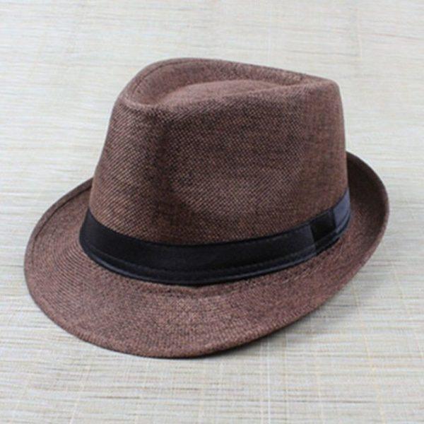 Hot Unisex Hat Women Hat Men Gangster Summer Beach Cap Hard Felt Fedora Trilby Panama Jazz Gangster Hats 18