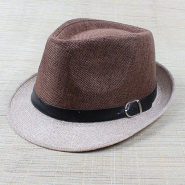 Hot Unisex Hat Women Hat Men Gangster Summer Beach Cap Hard Felt Fedora Trilby Panama Jazz Gangster Hats 10