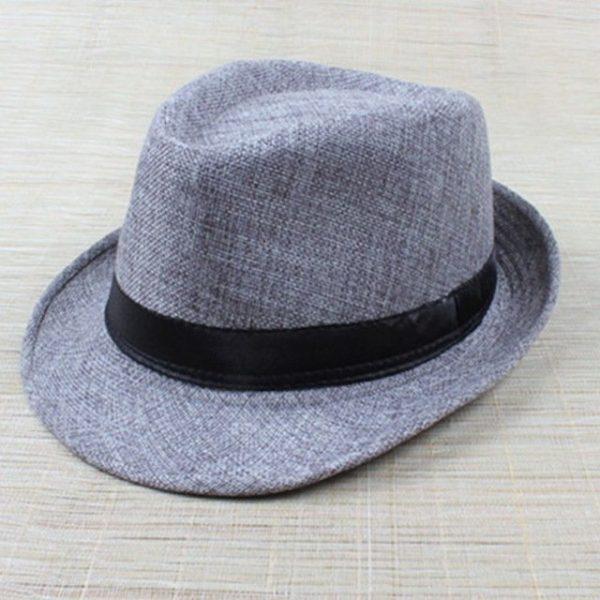 Hot Unisex Hat Women Hat Men Gangster Summer Beach Cap Hard Felt Fedora Trilby Panama Jazz Gangster Hats 22