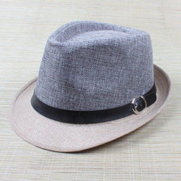 Hot Unisex Hat Women Hat Men Gangster Summer Beach Cap Hard Felt Fedora Trilby Panama Jazz Gangster Hats 24